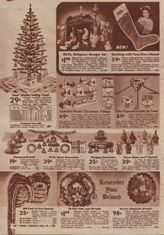 christmas decorations in sears christmas catalog 1940 - Sears Christmas Decorations