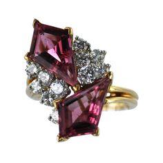 OSCAR HEYMAN Pink Tourmaline and Diamond Ring by   Oscar Heyman & Brothers