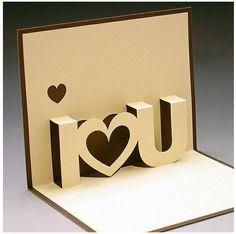 cartão eu te amo pop up