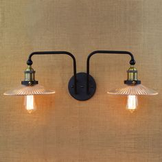 Double Swing Arm wall Lights E27 Industrial Clear Glass Lampshade Wall Sconce Iron Nordic Vintage Bar Decors luminaire applique