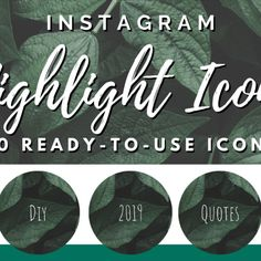 Brand your Instagram account with these handwritten dark leaves highlight covers 🌲  This pack of includes 50 Instagram Icons and Text Highlights in a handwritten style that will take your Instagram Story Highlights to the next level!