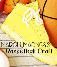 new arrivals 3e228 1bb72 Easy and fun basketball craft for the kids! After reading Salt In His Shoes,