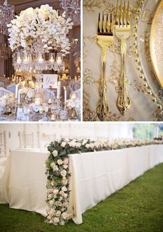 Wedding Trends for 2014 gold tableware