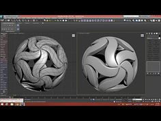 3d Tutorial | Floral Star Ball Technique | 3dsmax - YouTube