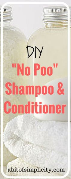 """DIY """"No Poo"""" Baking Soda Shampoo and Vinegar Conditioner. Stop using those harsh chemicals and spending tons of $$ on commercial products. Only 3 ingredients and I bet you already have them in your cabinet!!   www.abitofsimplicity.com"""