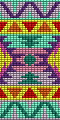 Pattern for my own mochila bag:) made with the program: EasyBeadPatterns:)
