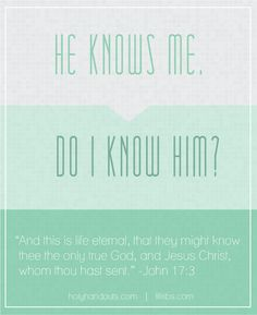 "Handout for the topic question """"How can I know my Heavenly Father?"" from Holyhandouts.com   
