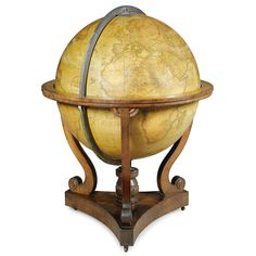 An early Victorian 36-inch terrestrial library globe by John Addison and G & J Cary circa 1840 Estimate 20,000 — 30,000 GBP SOLD. 205,250 GBP !!!!!