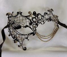 Venetian black mask elegant and original mask by Cocone
