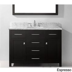 Virtu USA Caroline 48-inch Single-sink Bathroom Vanity Set   Overstock.com Shopping - Great Deals on VIRTU Bathroom Vanities