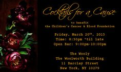 Join CCBF and our Young Professionals Committee for an evening of fun on Friday, March 20th at The Wooly, NYC!