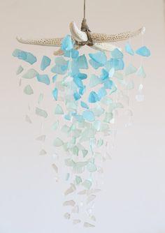 Sea Glass & Starfish Mobile Grand Ombre by TheRubbishRevival