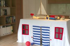 Table play house tablecloth play house play by LittleCrownShop