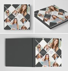 Senior Album Book Cover Template for Photographers #photoshop #templates #senior #graduation #photography #book #album