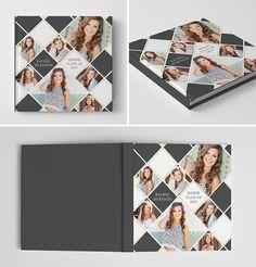Senior Album Book Cover Template for Photographers #photoshop #templates #senior #graduation #photography #book #album