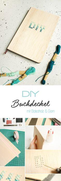 Dani zeigt auf ihrem DIY Blog Gingered Things wie du mit Balsaholz und Garn einen ganz individuellen Buchdeckel gestalten kannst. Einfach besticken und ein tolles Geschenk basteln. Fall Crafts, Diy And Crafts, Bullet Journal Travel, Diy Workshop, Diy Blog, Diy Supplies, Book Binding, Diy Scrapbook, Diy Projects To Try