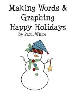 This holiday activity includes both word work, graphing, and multiplication.  Your students will enjoy competing with their peers to get the most p...