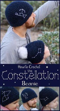 Constellation Beanie Free Crochet Pattern 24b6988920dc