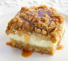 caramel apple cheesecake bars - paula deen