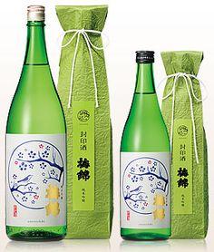 純米吟 梅錦 封印酒 We don't see a whole lot of green packaging so this is especially pretty. PD