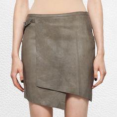 Helmut Lang overlap skirt.
