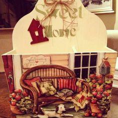 Door box - ekmeklik/gazetelik hamur kabartma #lillycrafts @instagram