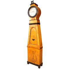Biedermeier Longcase Clock | From a unique collection of antique and modern clocks at https://www.1stdibs.com/furniture/more-furniture-collectibles/clocks/