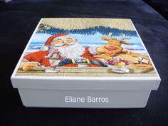 pintura e decoupage feito por Eliane Barros