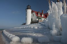 Pt. Betsie Lighthouse, Crystallia, Michigan- sure looks different from when I was there!