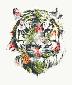 #tropical #tiger #art #print