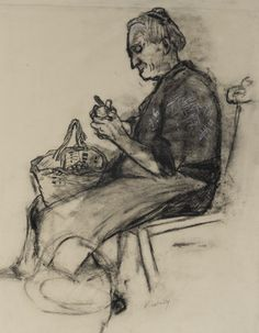 Old Woman Peeling Potatoes sold by Bonhams, Edinburgh, on Monday, August 2012 Woman Sketch, Indian Art Paintings, Glasgow School Of Art, Figure Sketching, Drawing Studies, Popular Artists, Peeling Potatoes, People Art, Women In History