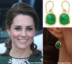 Monica Vinader Siren Earrings in green onyx ($195)