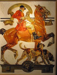 J.C. Leyendecker. Saturday Evening Post, 1929. Fall Foxhunting. Oil on canvas (1874-1951) Haggin Museum