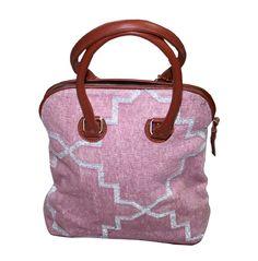Leather Handle Persian Carpet Purse Moroccan Kilim Rug Bag #Handmade #BeachBagBucketBagCrossbodyEveningBagTote