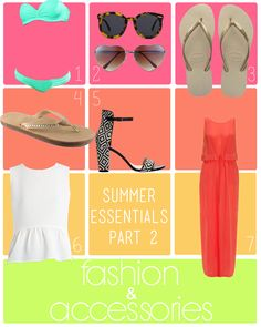 Summer 2013 Fashion & Accessory  Essentials #fashion #sunnies #sunglasses #bikini #summer #style