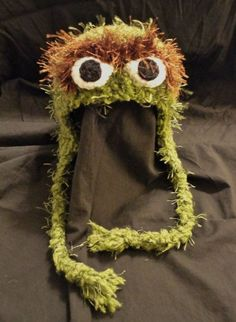 Image result for oscar the grouch fur kid hat
