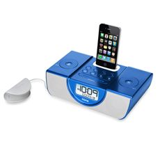 iHome® Dual Alarm Clock Radio for iPhone/iPod with Pillow Shaker - Blue  $99.99