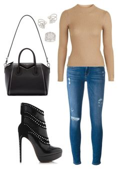 """""""Untitled #1616"""" by cecilia-rebecca-stagrum-buch on Polyvore featuring Alaïa, Frame, Givenchy, Topshop, Alexis Bittar and Ross-Simons"""