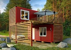 Container Shop, Storage Container Homes, Building A Container Home, Container Buildings, Container Architecture, Cargo Container, Sustainable Architecture, Residential Architecture, Contemporary Architecture