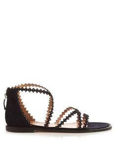 Alexa Wagner Thrilly scallop-strap sandals