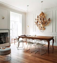 modern chairs and frency table Simply Smitten by Kristin Kerr