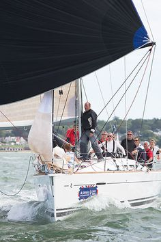 Beneteau First 40 'Minx 3' Beneteau First 40 yacht 'Minx 3' racing during Cowes Week. #yachts #sailing