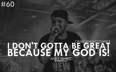 Andy Mineo -Super human My GOD IS THE GREATEST<3