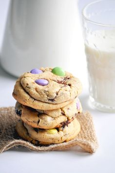 chewy chocolate chunks, peanut butter and Smarties cookies.