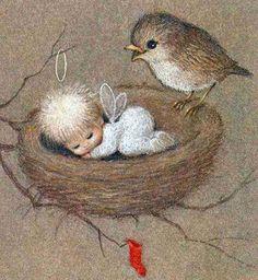 je pense à un bébé qui vient de naître ...FILLE.
