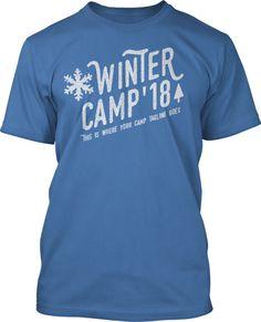 Vintage Winter Camp T-Shirt Design #460