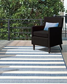 Aperto Regency Stripes Outdoor Rug | Rugs USA