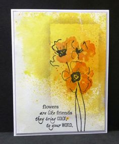Windowed Poppies by hobbydujour - Cards and Paper Crafts at Splitcoaststampers Watercolor Poppies, Watercolor Cards, Watercolor Background, Abstract Watercolor, Flower Stamp, Flower Cards, Poppy Cards, Penny Black, Pretty Cards