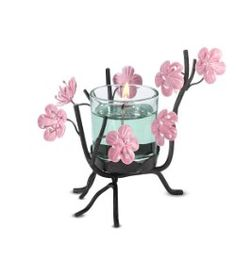 This Cherry Blossom Votive holder, only $5.00 at the online outlet.