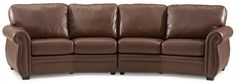 """Conversational curved sectional or extended sofa.  This piece is only found at Be Seated where we have unlimited configurations to fit your space for optimal comfort and room functionality.  """"Your Style, Your Comfort, Your Way"""" Be Seated Leather Furniture."""